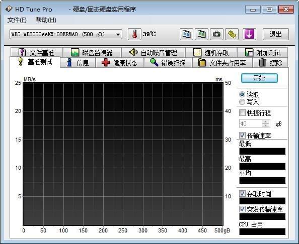 HD Tune Pro 5.75汉化版截图1
