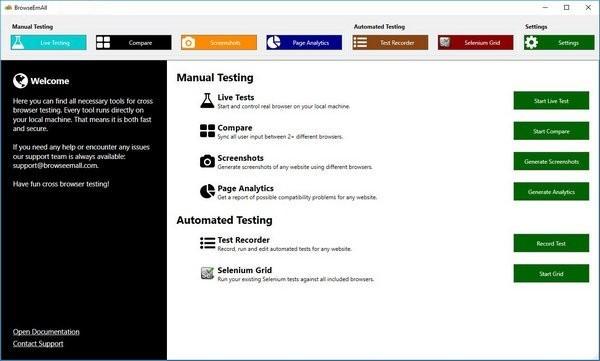 BrowseEmAll多浏览器测试工具