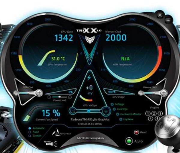 蓝宝石显卡超频软件(Sapphire TriXX)